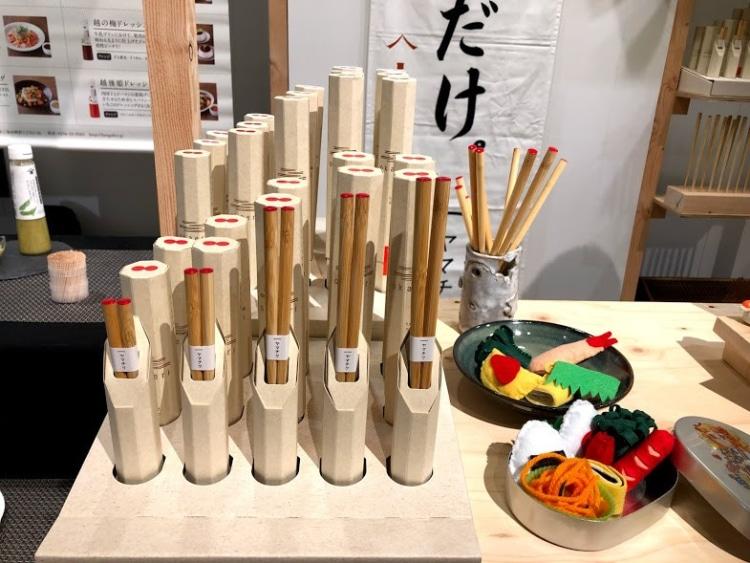 イベントで展示された竹箸